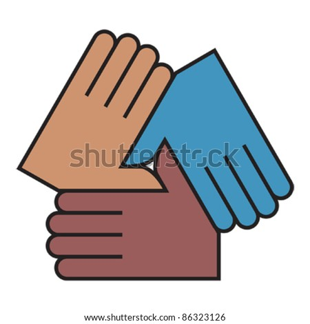 Linked hands icon