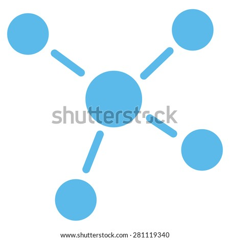 Links icon from Business Bicolor Set. This isolated flat symbol uses light blue color. - stock vector