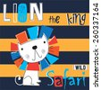 lion cartoon  striped...