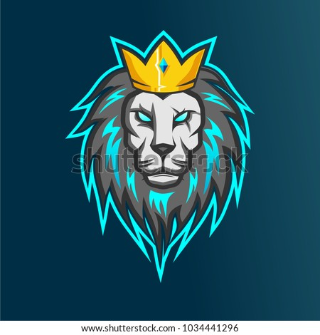 Design Squad Website >> Lion Esports Logo Your Team Game Stock Vector 1034441296 - Shutterstock