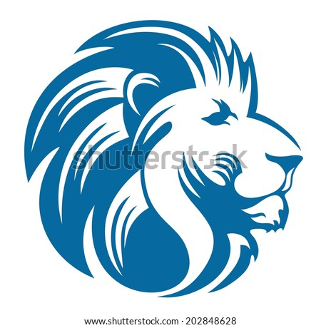 Blue lion logo with crown - photo#7