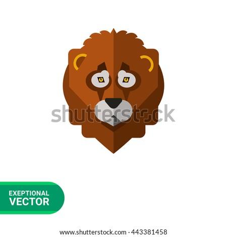 Lion head icon - stock vector