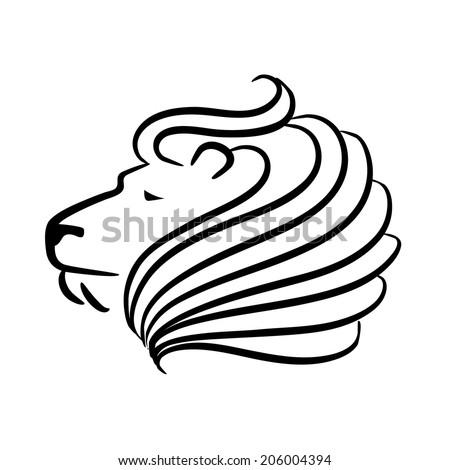 Lion head icon design EPS 10 Easy Lion Head Stencil