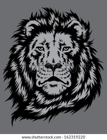 Lion Head Vector - stock vector
