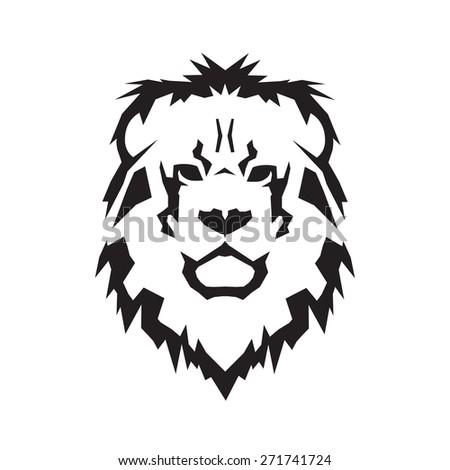 Lion head vector - stock vector