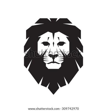 Lion head - vector logo template creative illustration. Animal wild cat face graphic sign. Pride, strong, power concept symbol. Design element.  - stock vector
