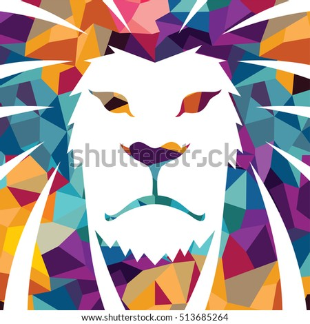 Lion head vector logo template creative illustration Animal wild cat face graphic sign Pride strong power concept symbol