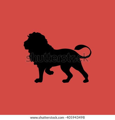 lion icon. lion sign - stock vector