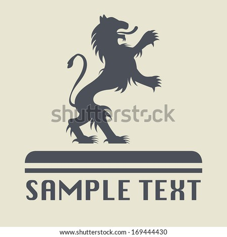 Lion icon or sign, vector illustration - stock vector