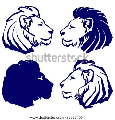 lion icon sketch collection cartoon vector illustration - stock vector