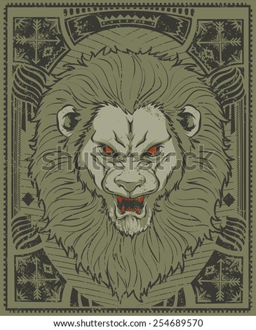 Lion King - stock vector