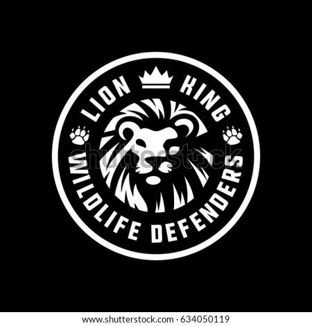lion king logo badge dark stock vector 634050119 - shutterstock