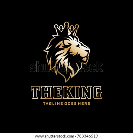 Lion Logo Crown King Vector 783346519