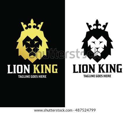 Lion Logo Design Template King Vector Illustration