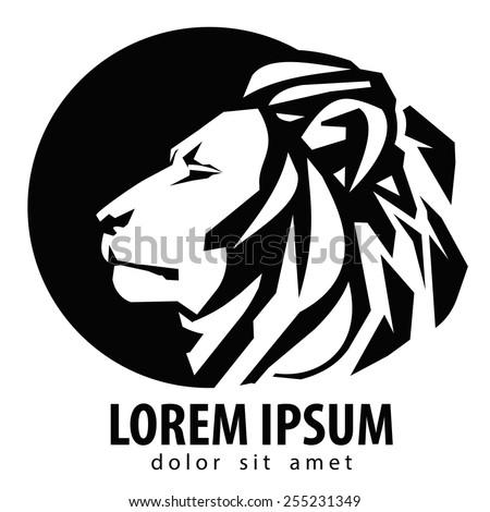 Lion Logo Design Template Wildlife Zoo Stock-Vektorgrafik 255231349 ...