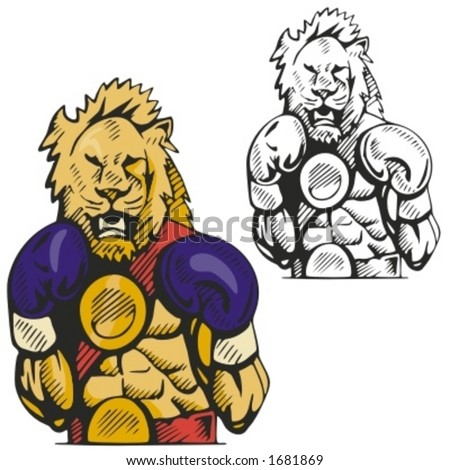 Lion Mascot for sport teams. Great for t-shirt designs, school mascot logo and any other design work. Ready for vinyl cutting. - stock vector