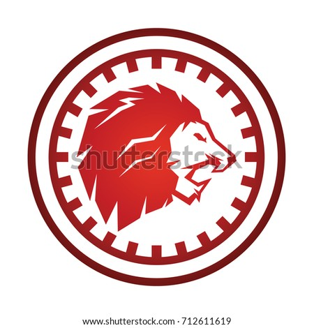 lion mechanical logo vector stock vector 712611619 shutterstock rh shutterstock com mechanical logic puzzles mechanical logitech keyboard