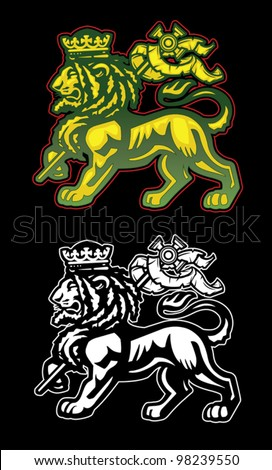 Lion of Judah - stock vector