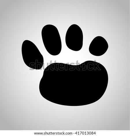 Lion paw print icon