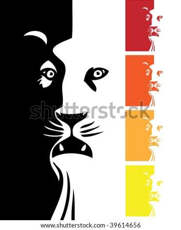 Lion's head - stock vector