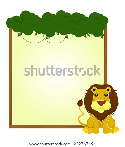 lion sign banner - stock vector