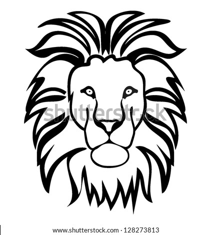 lion head silhouette stock images, royalty-free images & vectors