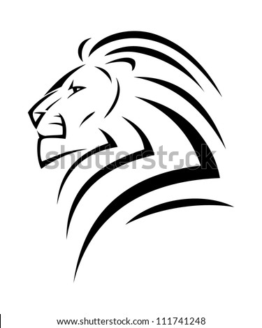 Simple lion head clipart - photo#40