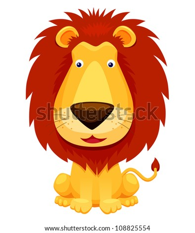Lion vector isolated on white - stock vector