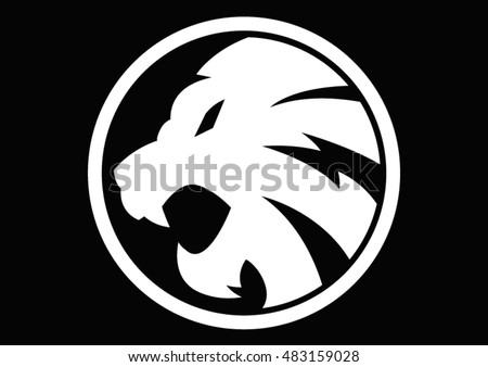 lion white symbol sign logo logofootball vector emblem illustration design idea creative tattoo