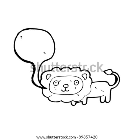 lion with speech bubble cartoon