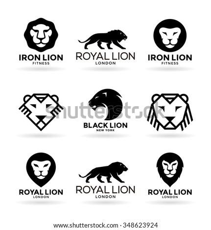 Lions (1) - stock vector