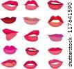 Lips Vector - stock vector