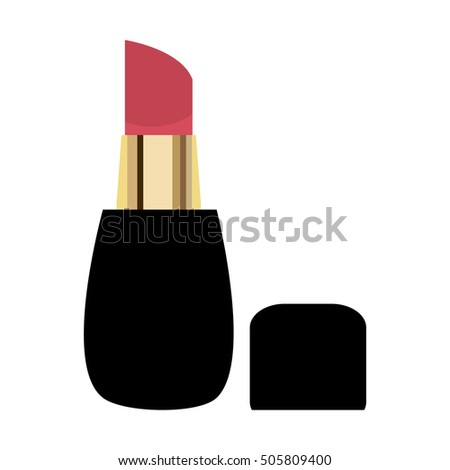 Lipstick.Flat design. Vector illustration of lipstick.