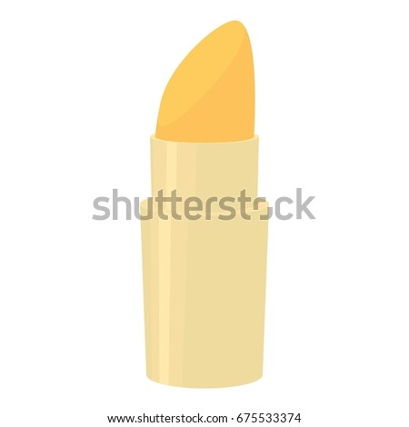 Lipstick icon. Cartoon illustration of lipstick vector icon for web isolated on white background