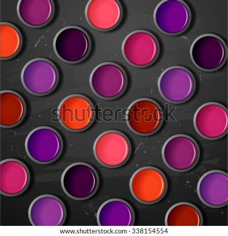 Lipstick, lip gloss. decorative cosmetics make up - stock vector