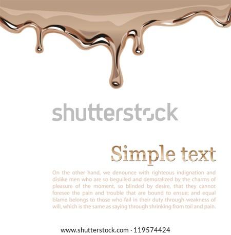 liquid gold or flowing golden paint Vector - stock vector