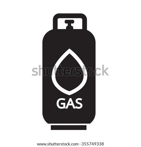 Liquid Propane Gas icon Illustration symbol design - stock vector