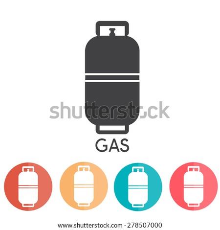 Liquid Propane Gas Vector Illustration abd web icons - stock vector