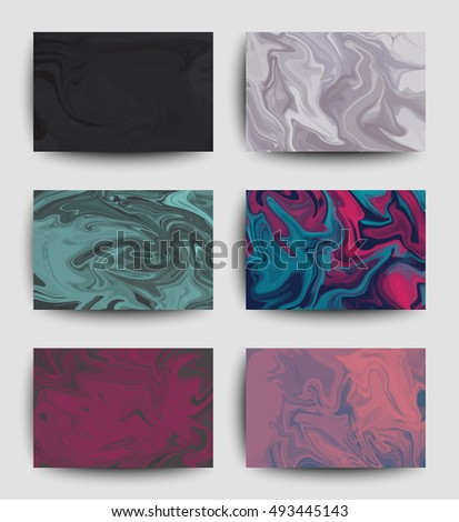 Liquid textures design set abstract background stock vector 2018 liquid textures design set abstract background with splashes templates for business card poster colourmoves