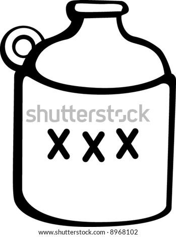 liquor bottle - stock vector