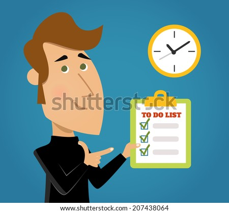 List to do important tasks priority reminder done background with check boxes schedule abstract vector illustration - stock vector