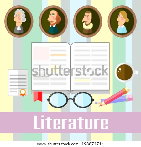 Literature - stock vector