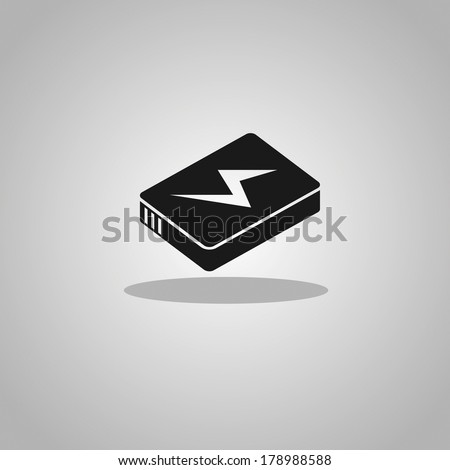 lithium ion batteries icon - stock vector