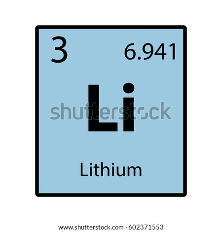 Lithium periodic table element color icon stock vector 602371553 lithium periodic table element color icon on white background vector urtaz Choice Image