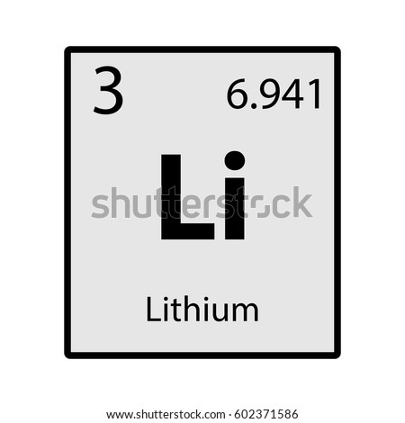 Lithium periodic table element gray icon stock vector 602371586 lithium periodic table element gray icon on white background vector urtaz Gallery