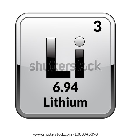 Lithium atom stock images royalty free images vectors lithium symbolemical element of the periodic table on a glossy white background in a urtaz Image collections