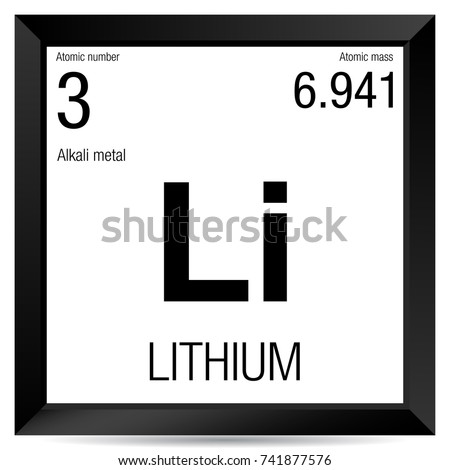 Lithium symbol element number 3 periodic stock vector 741877576 lithium symbol element number 3 of the periodic table of the elements chemistry urtaz Gallery