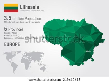 Lithuania world map pixel diamond texture stock vector hd royalty lithuania world map with a pixel diamond texture world geography gumiabroncs Choice Image