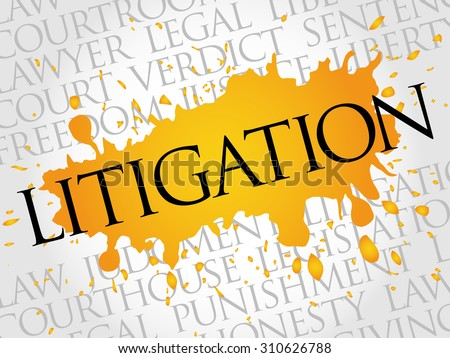 Litigation word cloud concept - stock vector