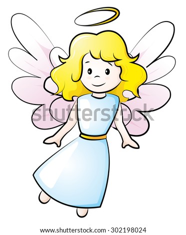 little angel - stock vector